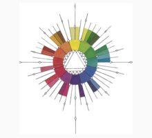 Color Compass Mandala One Piece - Short Sleeve