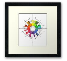 Color Compass Mandala Framed Print