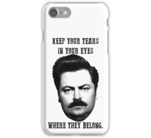 Ron Swanson quote iPhone Case/Skin