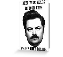 Ron Swanson quote Greeting Card