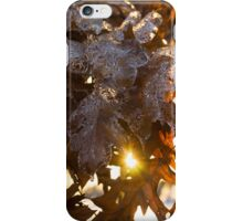 Honey Colored Honeycomb Ice With a Sun Flare iPhone Case/Skin