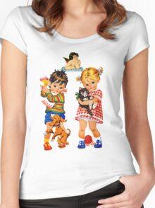 Boy Girl Angel Women's Fitted Scoop T-Shirt