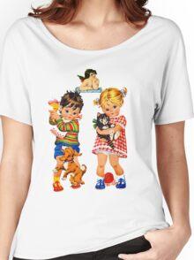 Boy Girl Angel Women's Relaxed Fit T-Shirt