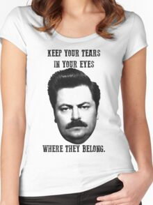 Ron Swanson quote Women's Fitted Scoop T-Shirt