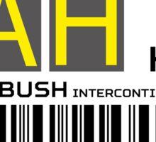 Destination Housten Airport Sticker