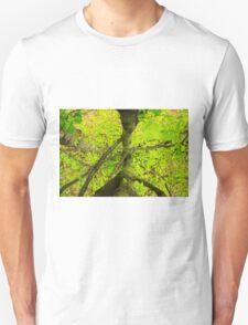 Green leaves. Unisex T-Shirt