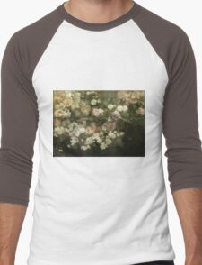 Maria Oakey Dewing - Garden In May. Still life with flowers: flowers, blossom, peony, Rose, floral flora, wonderful flower, plants, cute plant for kitchen interior, garden, pink Men's Baseball ¾ T-Shirt