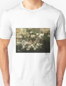 Maria Oakey Dewing - Garden In May. Still life with flowers: flowers, blossom, peony, Rose, floral flora, wonderful flower, plants, cute plant for kitchen interior, garden, pink Unisex T-Shirt