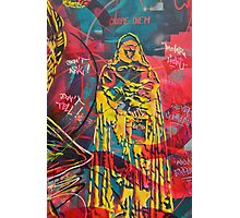 Graffiti monk street art Photographic Print