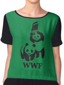 wwf panda Chiffon Top
