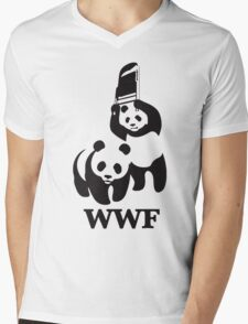 wwf panda Mens V-Neck T-Shirt
