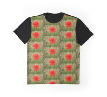 Red Poppy in A Field Graphic T-Shirt