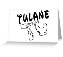 Mickey Mouse Hands Tulane Greeting Card