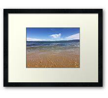 Clear Blue Lake Framed Print