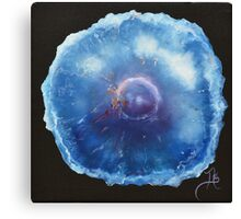 Jellyfish 2, original oil by Nicki b Canvas Print