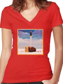 My Beautiful Dark Twisted Fantasy Women's Fitted V-Neck T-Shirt