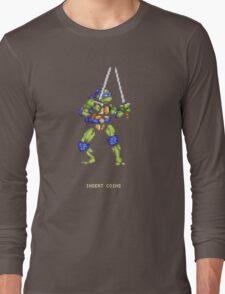 8-Bit Turtle Power Long Sleeve T-Shirt