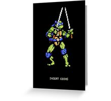 8-Bit Turtle Power Greeting Card