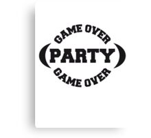 Game Over Party Canvas Print