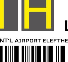 Destination Athens Airport Sticker