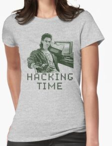 Hacking time Womens Fitted T-Shirt