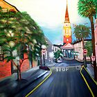 Church Street at Dusk, Charleston, SC by Karen L Ramsey