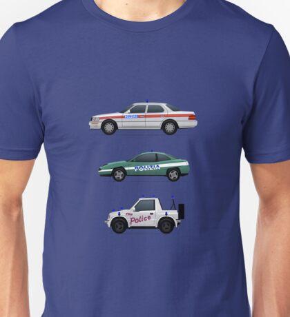 Police car challenge Unisex T-Shirt