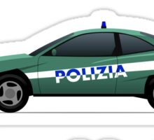 Police car challenge Sticker