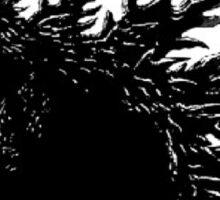 Godzilla Black and White Sticker