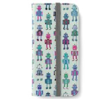 GoggleBots - robot pattern iPhone Wallet/Case/Skin
