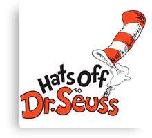 Dr Seuss Hat Canvas Print