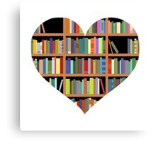 Books heart Canvas Print