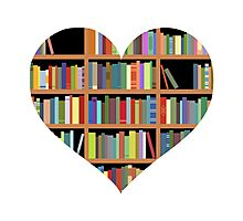 Books heart Photographic Print