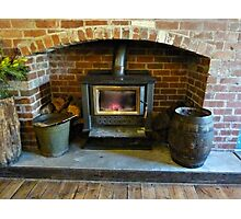 *Fireplace in Country Pub - Greendale, Vic. Australia* Photographic Print