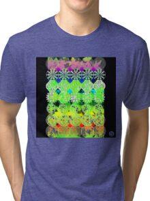 Mandala effect psychedelic take album art  Tri-blend T-Shirt