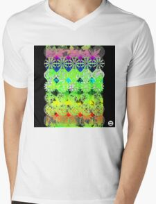Mandala effect psychedelic take album art  Mens V-Neck T-Shirt