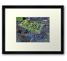 Abstract License Plates Framed Print