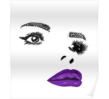 Painted Lady Purple Gloss Poster