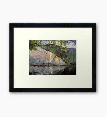 Rocks Attending the River Framed Print
