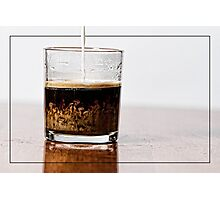 Coffee Marble Art Photographic Print