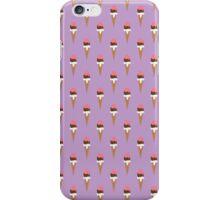 Ditsy Ice Cream Print in Lavender iPhone Case/Skin