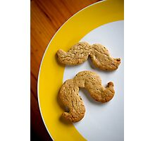 Pistachio & white choc chip moustache biscuits Photographic Print