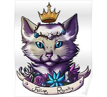 Lilac Tabby Siamese Poster