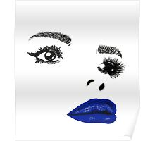 Painted Lady Blue Gloss Poster