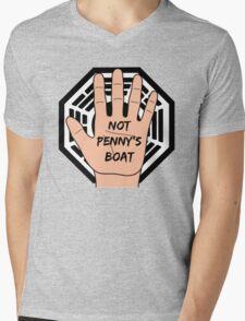 LOST Logo + Not Penny's Boat Mens V-Neck T-Shirt