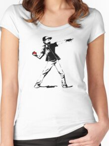 Banksy Pokemon Women's Fitted Scoop T-Shirt