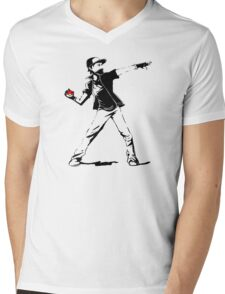 Banksy Pokemon Mens V-Neck T-Shirt