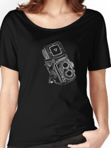 Vintage Camera chalkboard style Women's Relaxed Fit T-Shirt