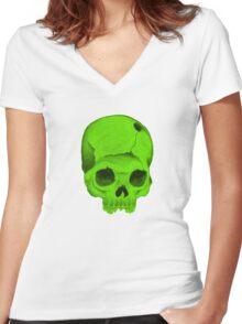 Greenskull Women's Fitted V-Neck T-Shirt