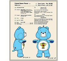 Champ Bear Patent Photographic Print